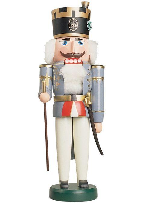 German nutcracker officiant, height 38 cm / 15 inch, original Erzgebirge by Seiffener Volkskunst