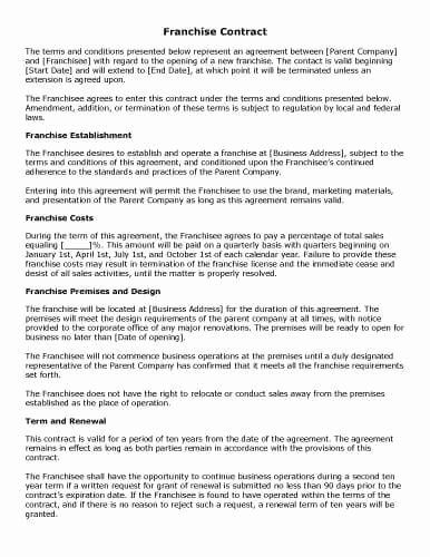 Manufacturers Representative Agreements Unique 32 Sample Contract Templates In Microsoft Word Contract Template Cleaning Contracts Franchise Agreement