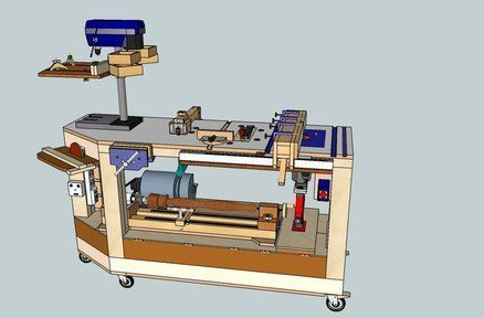 6 In 1 Multi Power Tool Work Bench Woodworking Bench Woodworking Workshop Woodworking