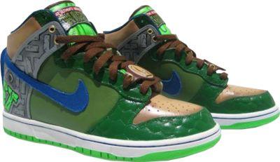 PSD Detail | Ninja Turtle: Nike Dunks