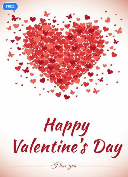 Happy Valentine S Day Greeting Card Template Free Pdf Psd Valentine S Day Greeting Cards Valentines Day Greetings Happy Valentines Day