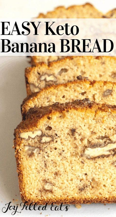 Keto Banana Bread - Low Carb, Gluten-Free, Grain-Free, THM S - Keto Banana Bread has the perfect secret ingredient to give you the banana flavor you know and love. This banana bread is so easy to make and only needs 11 ingredients. The first taste is pure heaven when you bite into it. #lowcarb #lowcarbrecipes #lowcarbdiet #keto #ketorecipes #ketodiet #thm #trimhealthymama #glutenfree #grainfree #glutenfreerecipes #recipes#breakfast #brunch #quickbread #ba #SimpleKetoRecipes