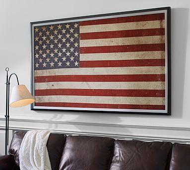 American Flag Framed Print Potterybarn Framed American Flag Framed Flag American Flag Decor