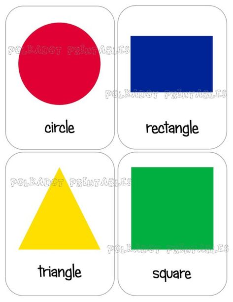 picture relating to Printable Shapes Flashcards called Pinterest Пинтерест