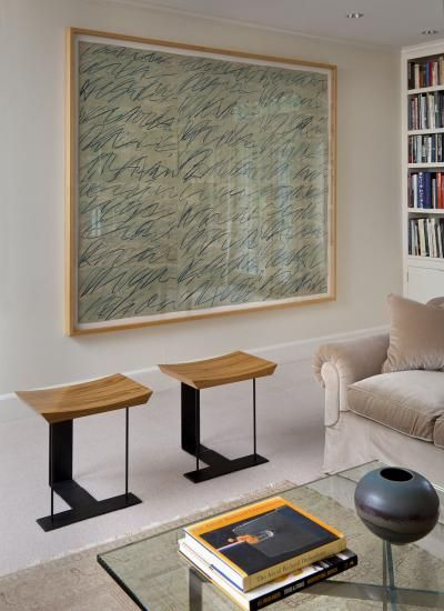 Home Interior Inspiration Work on paper by Cy Twombly. Westchester House by Glenn Gissler Design.Home Interior Inspiration Work on paper by Cy Twombly. Westchester House by Glenn Gissler Design Living Room Designs, Living Room Decor, Living Spaces, Cy Twombly, Pierre Chareau, Interior Design Portfolios, Piece A Vivre, Home Interior, Interior Work
