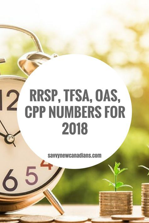 Rrsp Tfsa Oas Cpp Other Tax And Benefit Numbers Updated