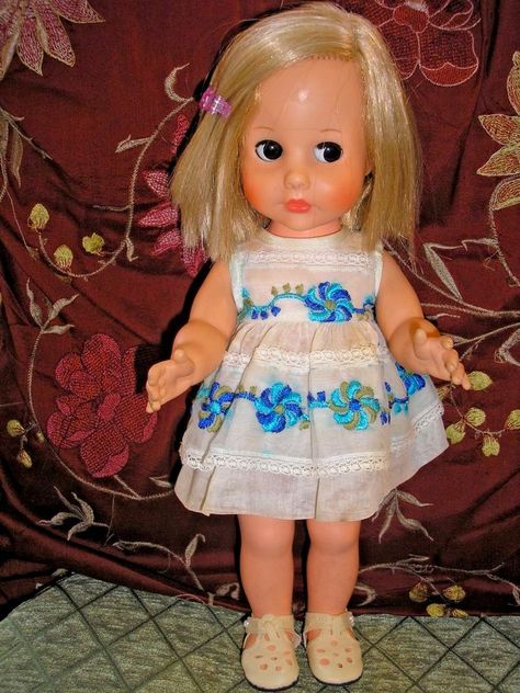 "American Character Blue Ribbon 13"" Vinyl Doll with Follow Me Eyes…"