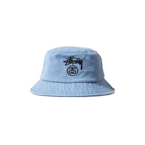 Stussy Stock Lock Denim Bucket Hat ❤ liked on Polyvore featuring  accessories 448792c8c2c