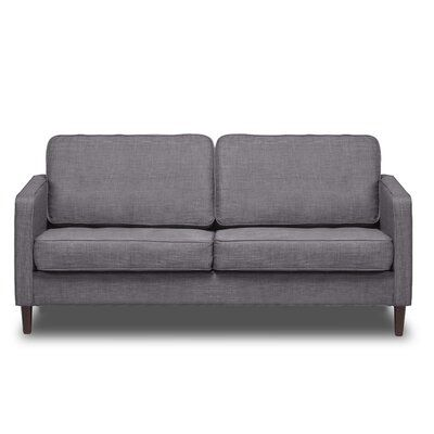 Ivy Bronx Cohutta 71 85 Square Arm Sofa Upholstery Color Flannel Grey In 2020 Hamilton Sofa Love Seat Sofa