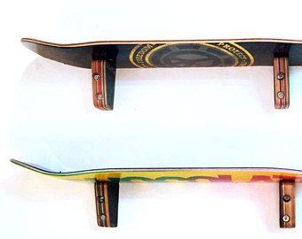 Skateboard Wandregal   Set Zwei   SkateShelf, Hergestellt Aus Recyceltem  Skateboards Von Deckstool. Skateboard Teen Wand Schlafzimmer.