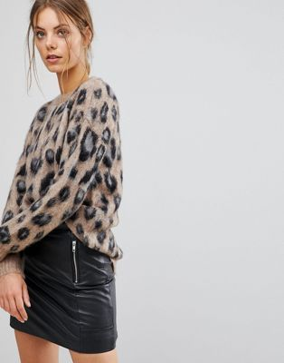 4cb373e8ac Esprit Animal Print Sweater in 2019 | Knits | Animal print jumpers ...