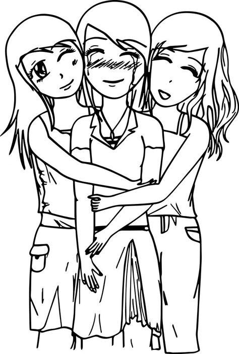 Best Friends Coloring Pages Best Coloring Pages For Kids Best Friend Drawings Drawings Of Friends Cute Best Friend Drawings