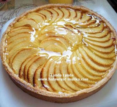 تارت التفاح وكريم باتسيير Felt Food Food Desserts