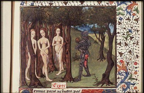 Actaeon surprises Diana bathing and is changed into a stag ----The Hague, KB, 74 G 27 . Christine de Pisan, L'Epistre d'Othea Place of origin, date: Auvergne(?); c. 1450-1475 http://manuscripts.kb.nl/show/manuscript/74+G+27