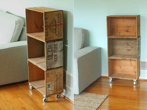 Decora ahorrando: estanterias con cajas de vino de madera recicladas ...