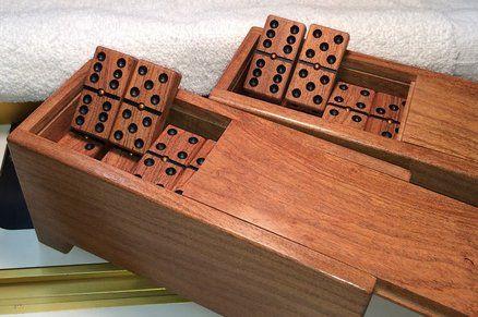 28pc Mini Dominoes Wooden Domino Travel Size Set