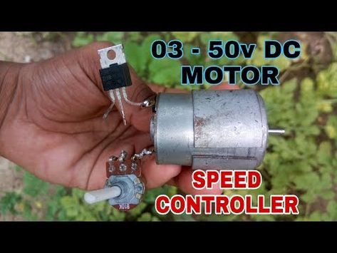 12v Dc Motor Speed Controler Using Mosfet Irf540 Youtube Motor Speed Arduino Motor Control Electronic Circuit Projects