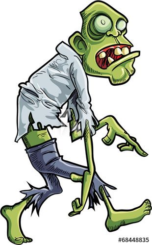 Cartoon Stalking Zombie With Big Eyes Zombie Cartoon Zombie Illustration Zombie Drawings