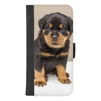 Rottweiler Puppy Portrait Iphone Wallet Case Zazzle Com