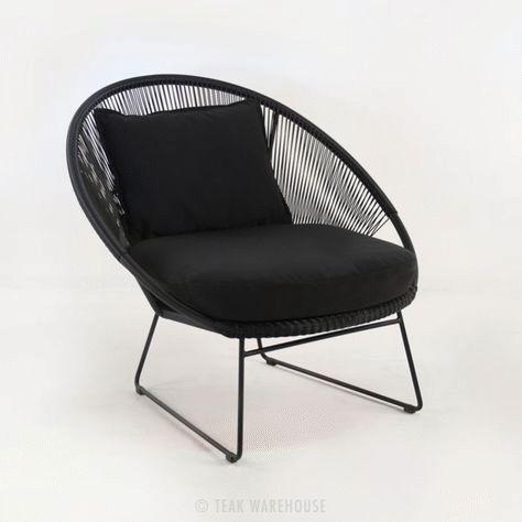Schwarze Outdoor Lounge Stuhle Design Schwarz Lounge Stuhl Design Ideen Stuhle Stuhle In 2020 Lounge Stuhl