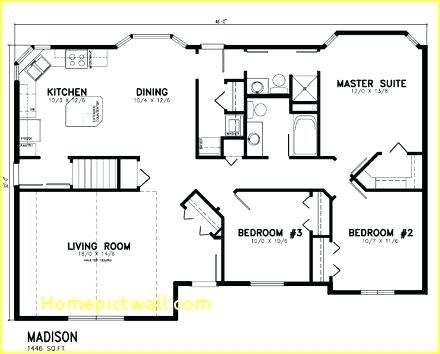 19 Fresh 1500 Square Foot House Plans One Story Images House Plans Tiny House Floor Plans Metal House Plans
