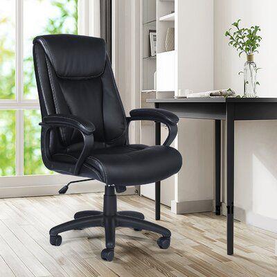 Charlton Home Renetta Executive Chair Black Office Chair Dining Chair Slipcovers Chair