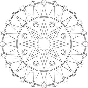 Pin Auf Mandala Coloring