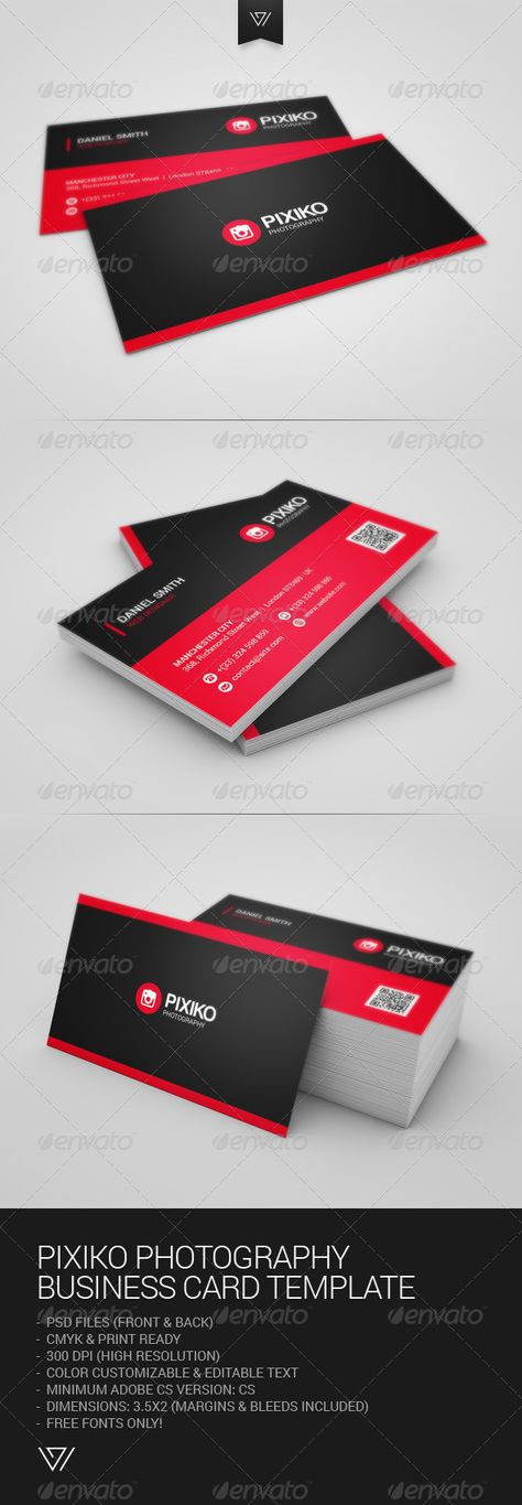 Photography Business Card Download Http Graphicriver Net Item Pixiko Photography Busin Restaurant Business Cards Business Cards Business Card Template Psd