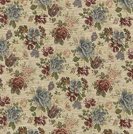 Classic Floral Pattern Upholstery Fabric by the Yard
