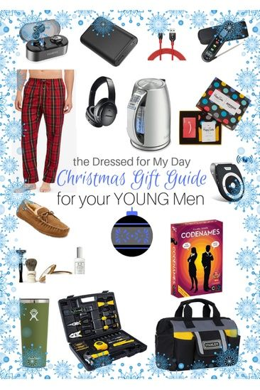All The Great Gifts For All The Young Men In Your Life Giftguide Christmasgifts Dressedformyday Gifts For Young Men Christmas Gifts Christmas Gifts For Men