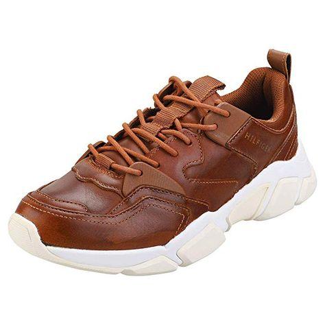 herren schnuerschuhe tommy hilfiger herren schnuerschuhe chunky leather runner sneaker  chunky leather runner sneaker