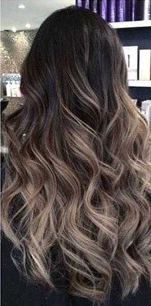 Tape In Balayage Black To Dark Brown Mixed Blonde Human Hair