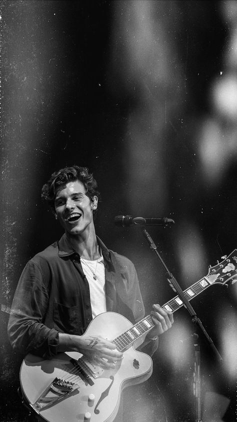 Shawn Mendes - Black&white lockscreens from random shows made by...