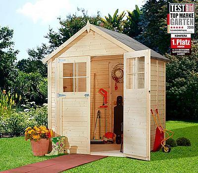 Konifera Gartenhaus Osterbek 1 Bxt 201x131 Cm Inkl Fussboden Mit 3 Jahren Xxl Garantie Gartenhaus Garten Fussboden