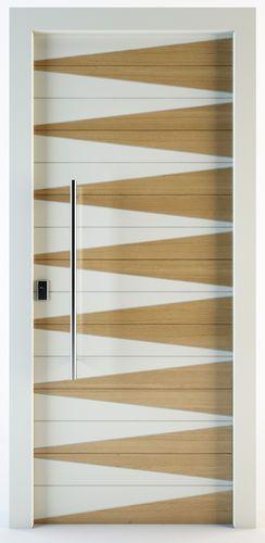 Porte D Entree Battante En Bois Massif Zakros Block95 Modern Wooden Doors Frosted Glass Interior Doors Door Design Interior
