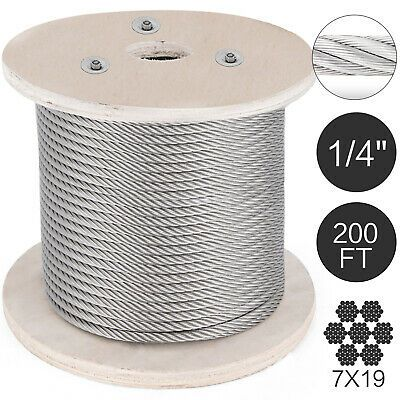 Ad Ebay Url T316 Stainless Steel Cable Wire Rope 1 4 7x19 200ft Cable Railing Petroleum Stainless Steel Cable Stainless Steel Wire Cable Wire