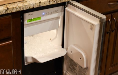 Built In, Under cabinet Ice Maker Built-In, Undercabinet Ice Machine Kitchen Home Design, Home Tour Part 4 http://fantabulosity.com