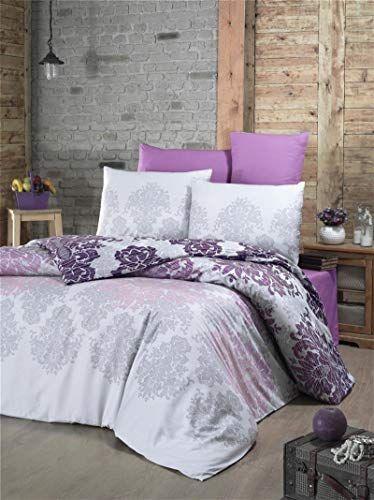 Dose Of Modern Maderia Satin Super King Quilt Cover Set Us Es 121vcq43451 White Lilac Grey Bedroom Decor Comforter Sets Dorm Room Decor