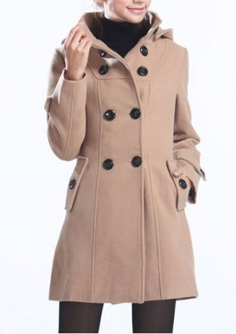db6abb5360f a.n.a® Double-Breasted Belted Wool-Blend Coat - Plus found at  JCPenney