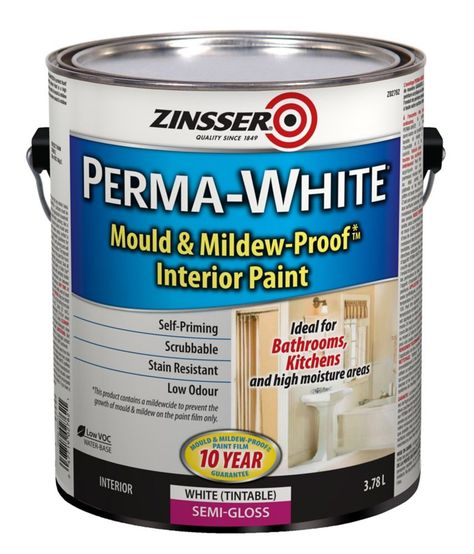 Perma White Semi Gloss 3 78l Remodeled Campers Interior Paint