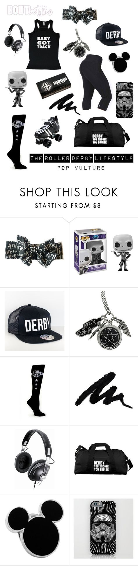 Roller derby fashion | Pop Vulture by Bout Betties on Polyvore featuring Panasonic, Disney and Hot Topic