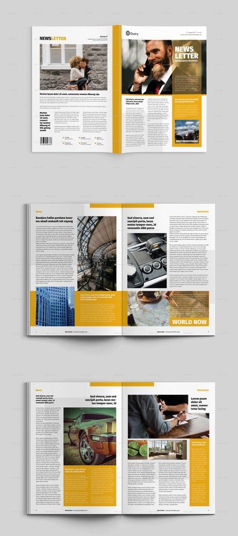 25+ Modern InDesign Newsletter Templates