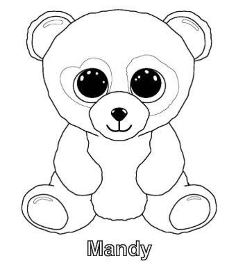 Coloring Page Base Panda Coloring Pages Beanie Boo Birthdays