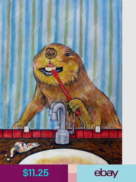 Posters Collectibles Animal Art Art Print Gifts Teeth Art