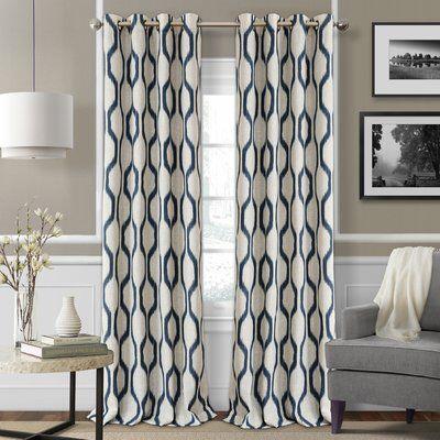 Valdovinos Geometric Blackout Grommet Single Curtain Panel Panel Curtains Elrene Home Fashions Curtains