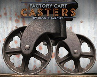 4 Industrial Casters Vintage Coffee Table Caster Wheels Idee