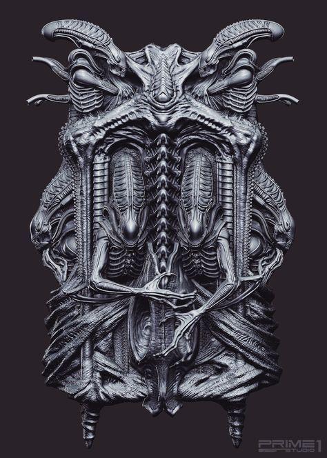Pin By P4ul F1n On Alines In 2020 Hr Giger Art Giger Art Alien Art
