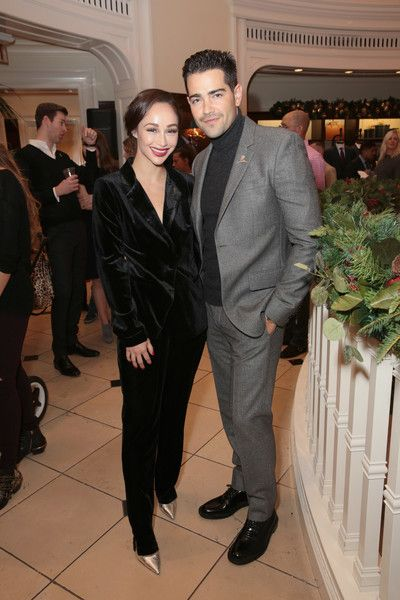 Cara Santana and Jesse Metcalfe attend the Brooks Brothers holiday celebration.
