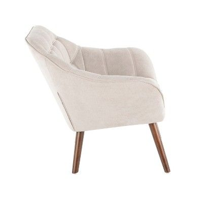 Surprising Boulder Mid Century Modern Accent Chair Beige Lumisource Uwap Interior Chair Design Uwaporg