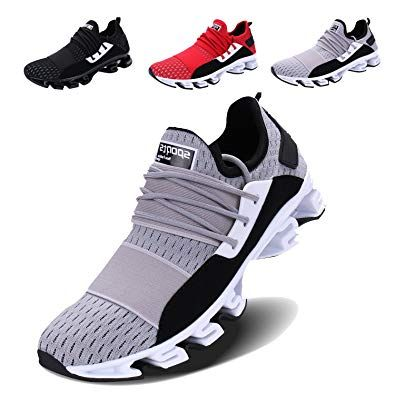 Voen Mens Casual Walking Shoes Blade Outdoor Sport Sneakers Mesh Breathable Fashion Shoe Review Mens Walking Shoes Best Walking Shoes Sneakers Fashion